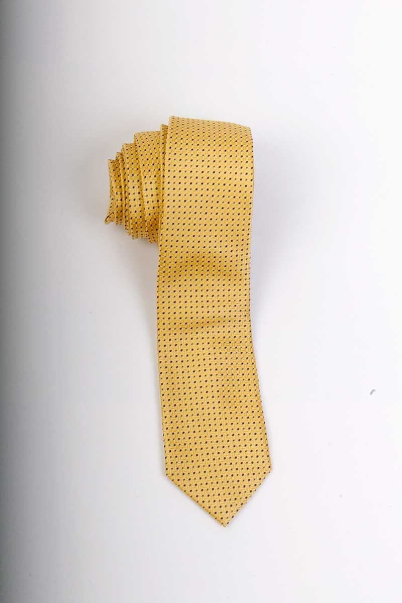 Geo Squares Neck Tie (Yellow)