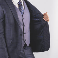 Alex Pinstripe Suit Navy