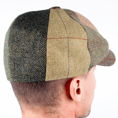 The Patchwork Tweed Baker Boy Hat