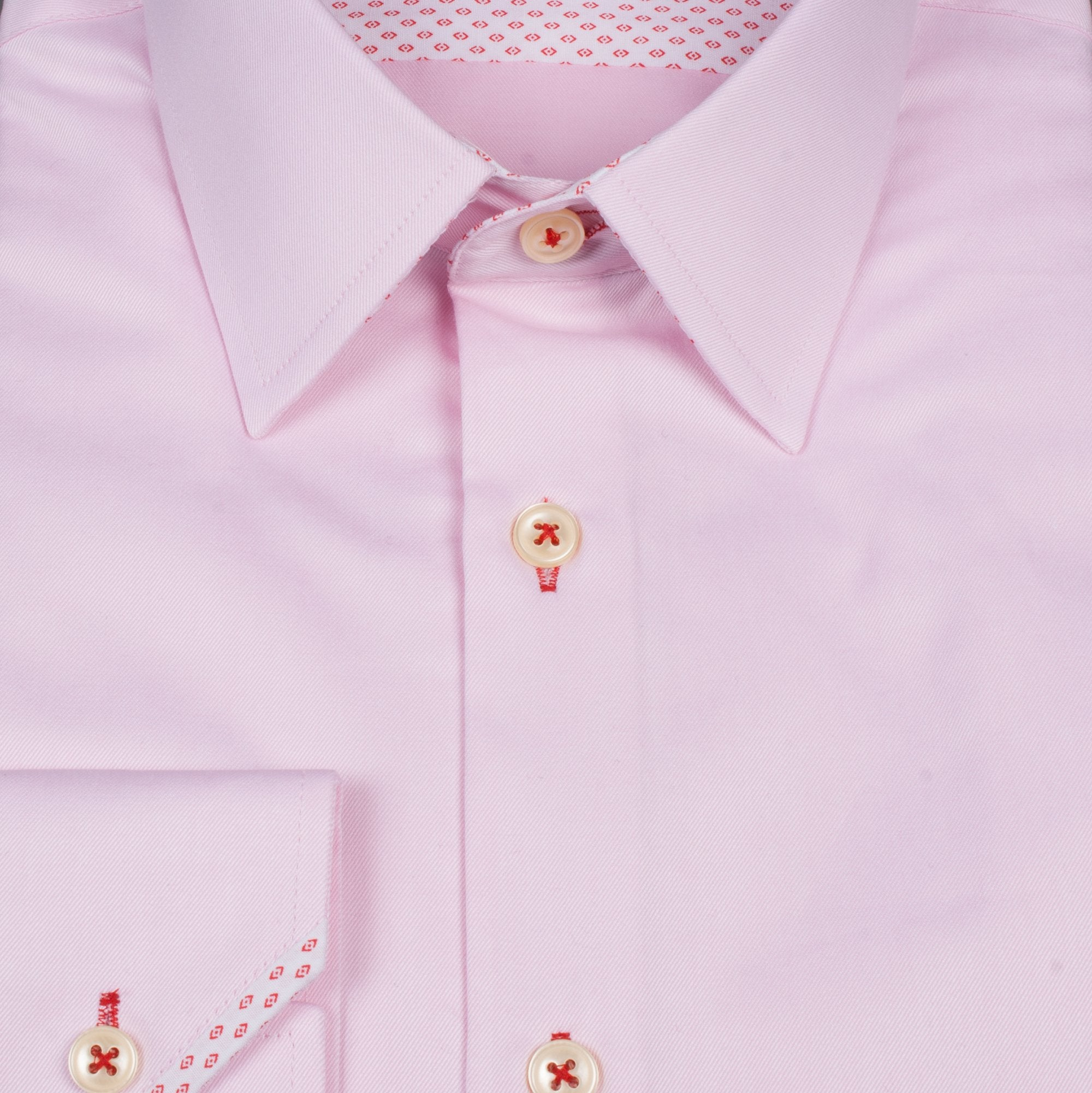 Pink Pointy Collar Shirt