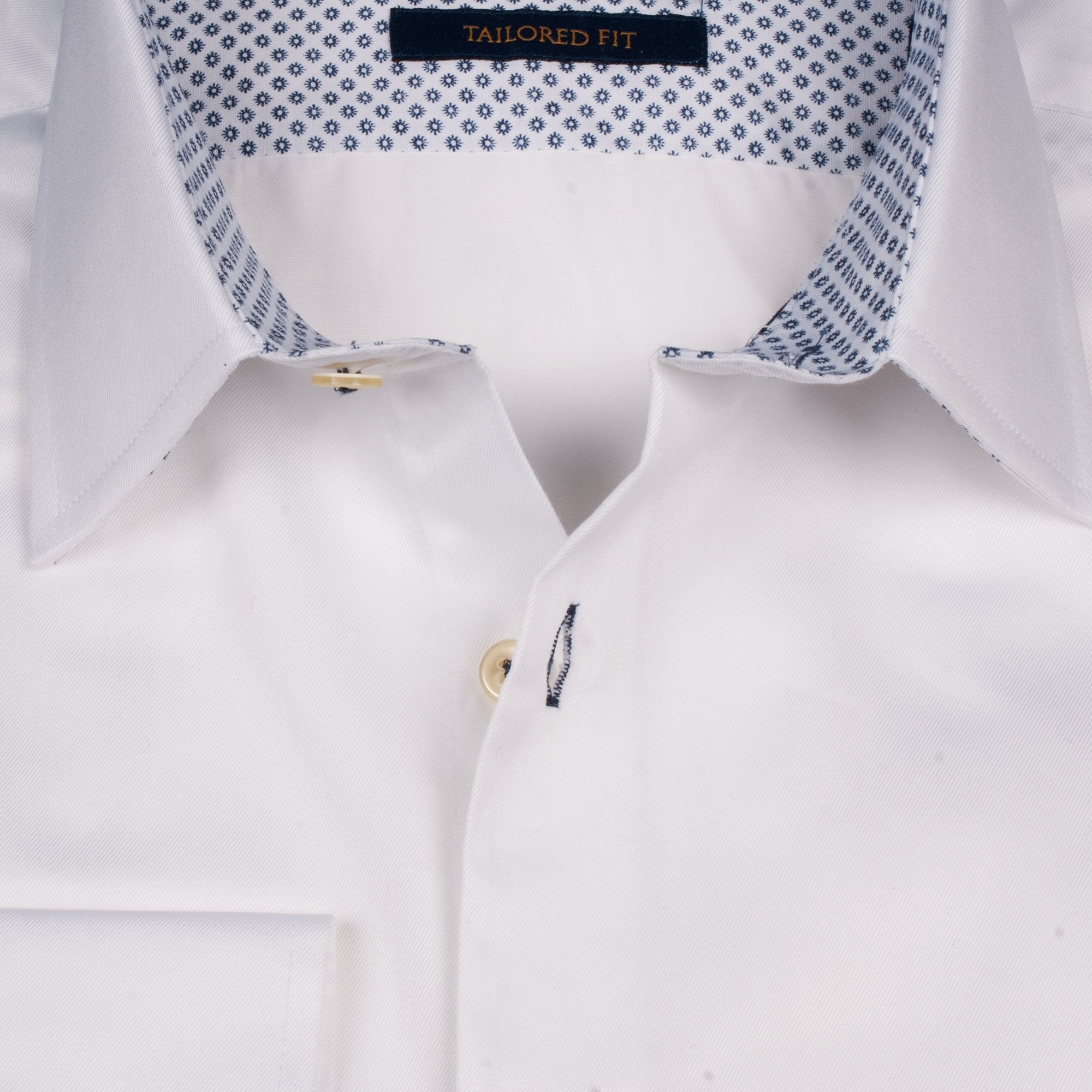 White Pointy Collar Shirt