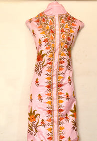 Pure Silk suit with Leaf and Flower - KatraBAZAAR