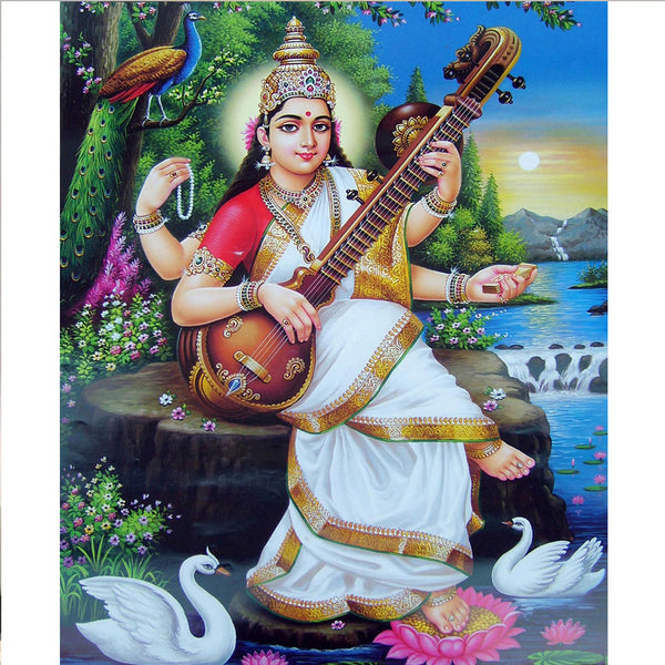 Maa Saraswati - Three-dimensional Poster