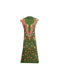 Summer Wear - Green Suit With A Shape Jaal design - KatraBAZAAR