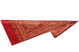 Shawl - Red with Golden Embroidery - KatraBAZAAR