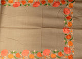 Stole - Orange on Grey - KatraBAZAAR