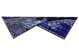 Semi Pashmina Blue Black Shawl Embroided with Ari - KatraBAZAAR