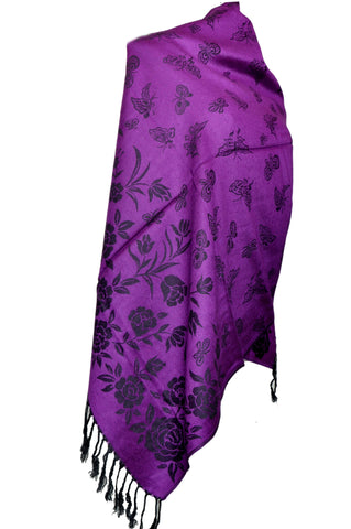 Purple dual side Stole - KatraBAZAAR