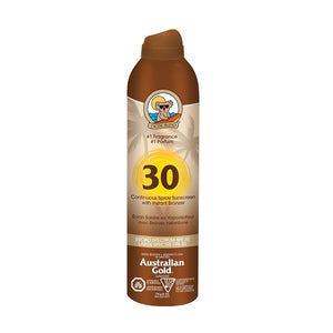 Continuous Spray Sunscreen with Bronzer - SPF 30