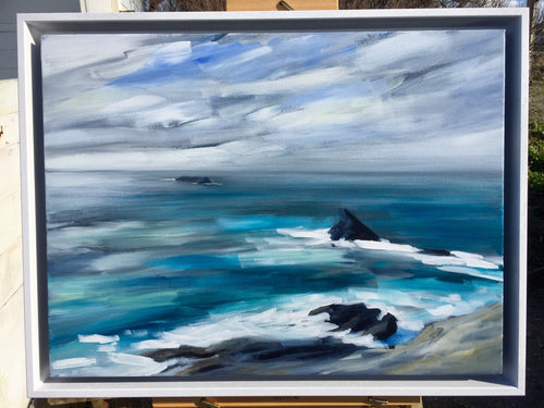 Original painting of the Quies, Trevose Head