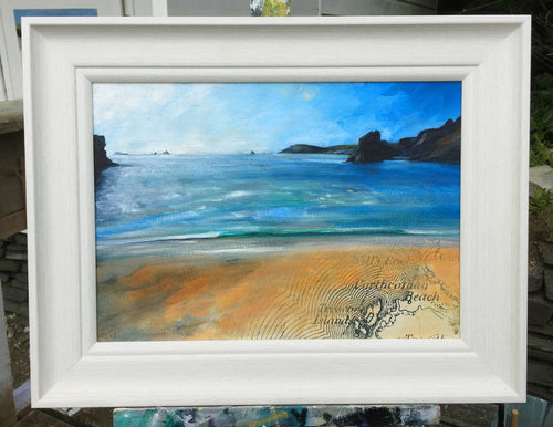 Painting of Golden Burn beach