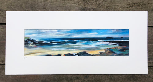 painting of treyarnon bay