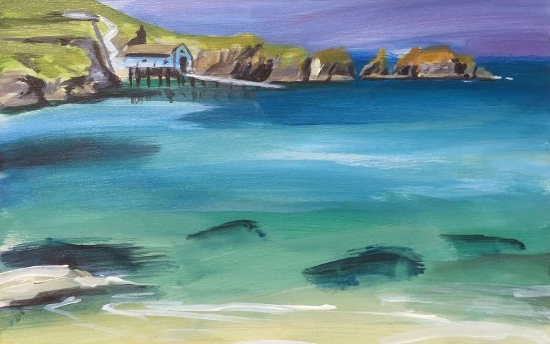 painting of mother iveys bay