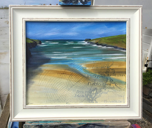 Painting of Porthcothan Bay by Cornish artist Toby Ray