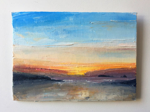 Summertime Sunset Oil Painting