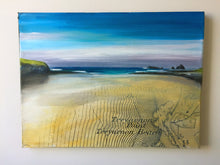 Treyarnon Bay Original Map Painting