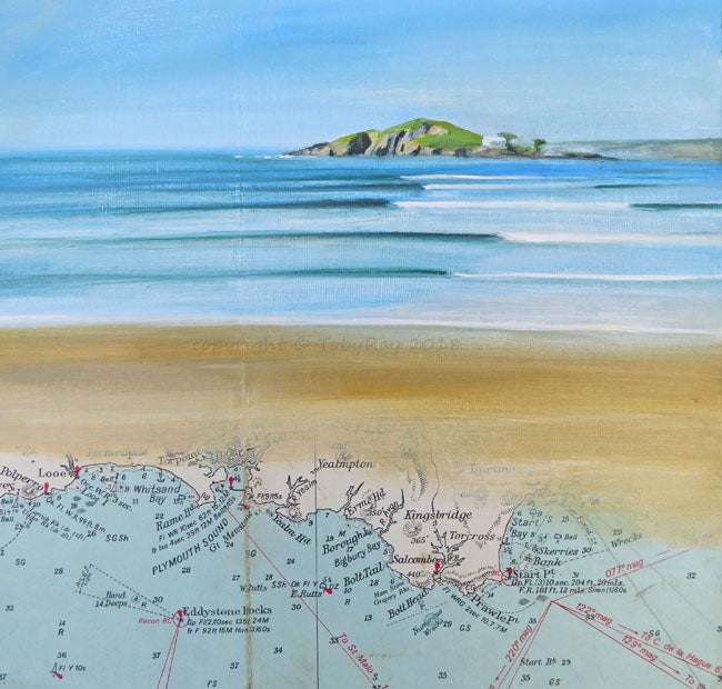 Fine art print of bantham and burgh island