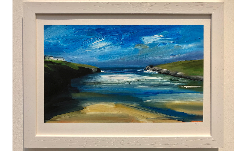 A4 print of Porthcothan Bay by Toby Ray