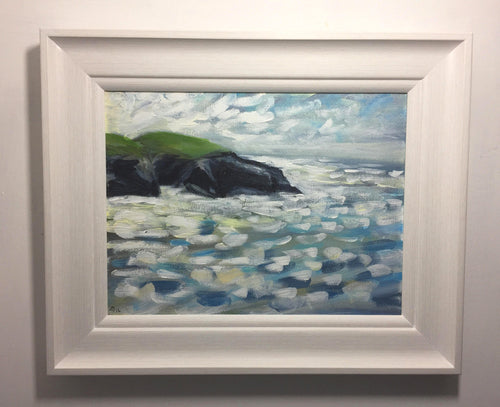 trethias island framed original artwork by toby ray