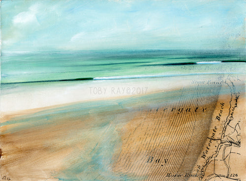Original painting of Watergate Bay by Toby Ray