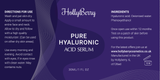 Pure Hyaluronic Acid Serum by Hollyberry - Professional Hydration - Anti Ageing Bring Vibrancy And Youthful Glow To Your Face Best Anti Ageing - Total Satisfaction Guaranteed…
