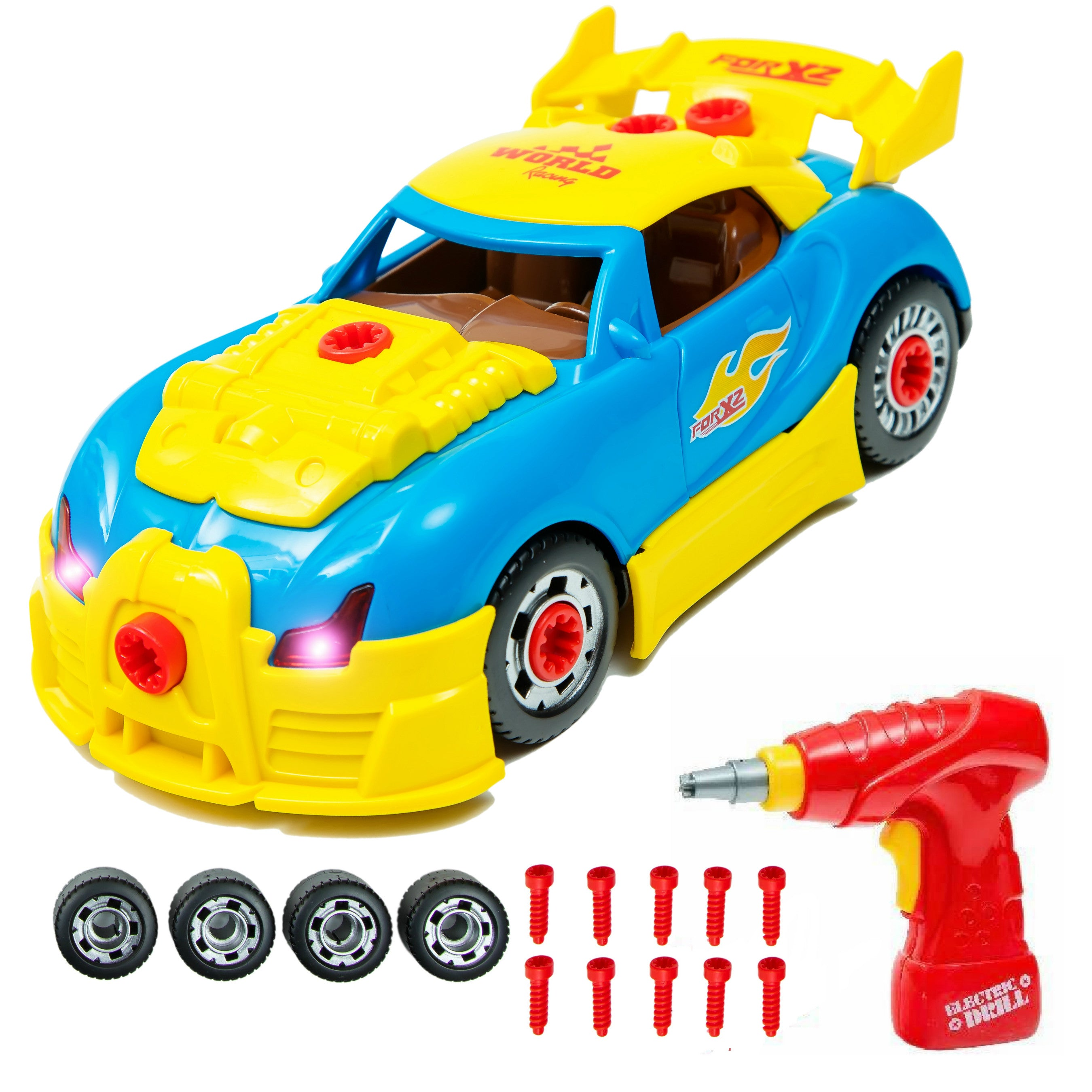 take apart toy racing car kit set build your own model race car construction set