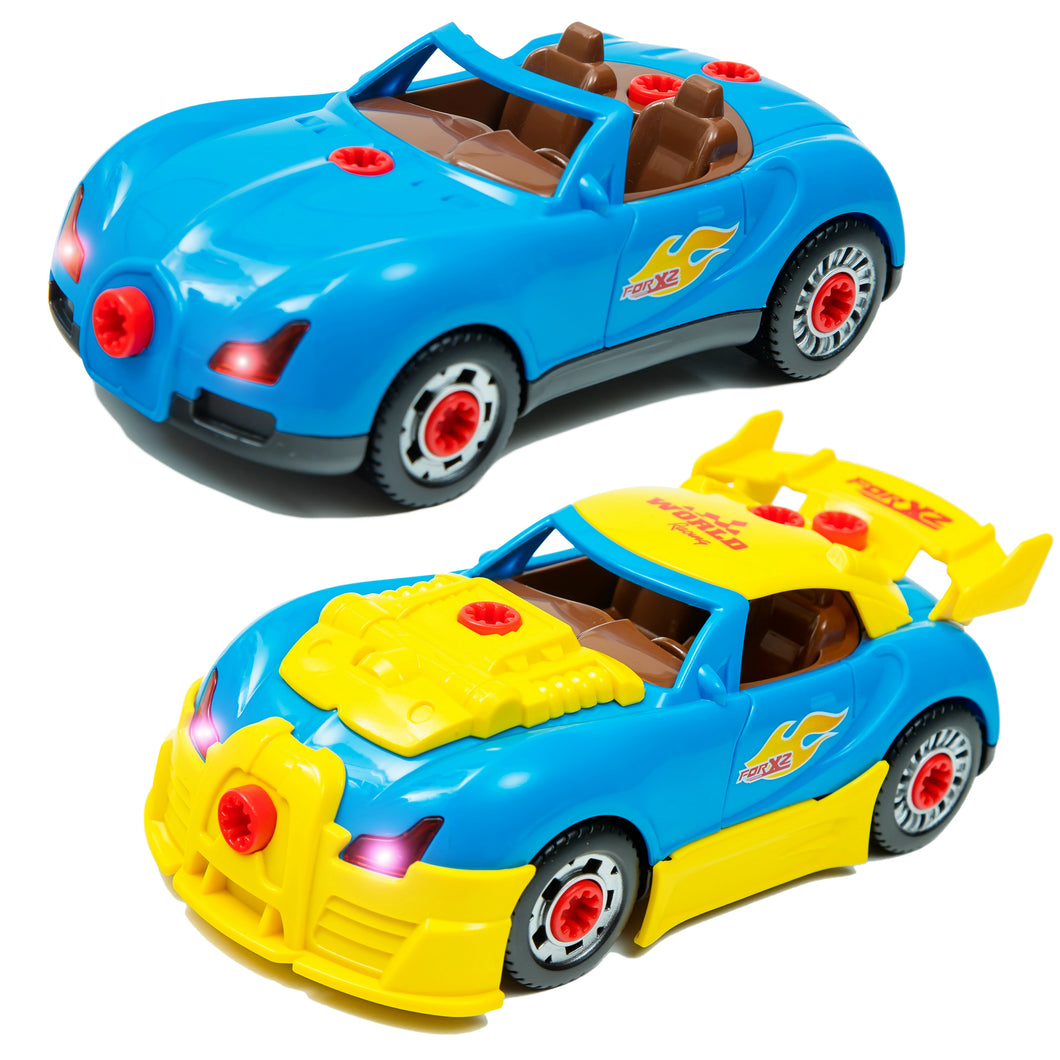 Take apart racing car toy for kids build your own toy for Motor racing for kids