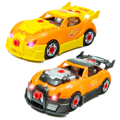 world racing car take a part toys for kids with 58 interchangeable take apart