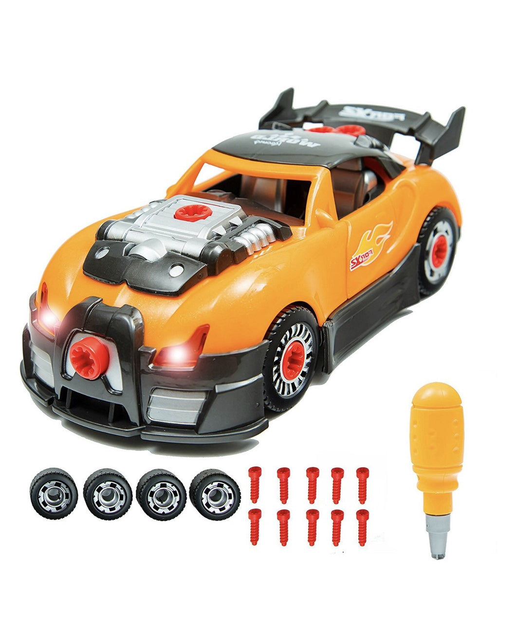 Brainnovative Toys Take Apart Toys Racing Car Kit Set U2013 Build Your Own  Model Race Car