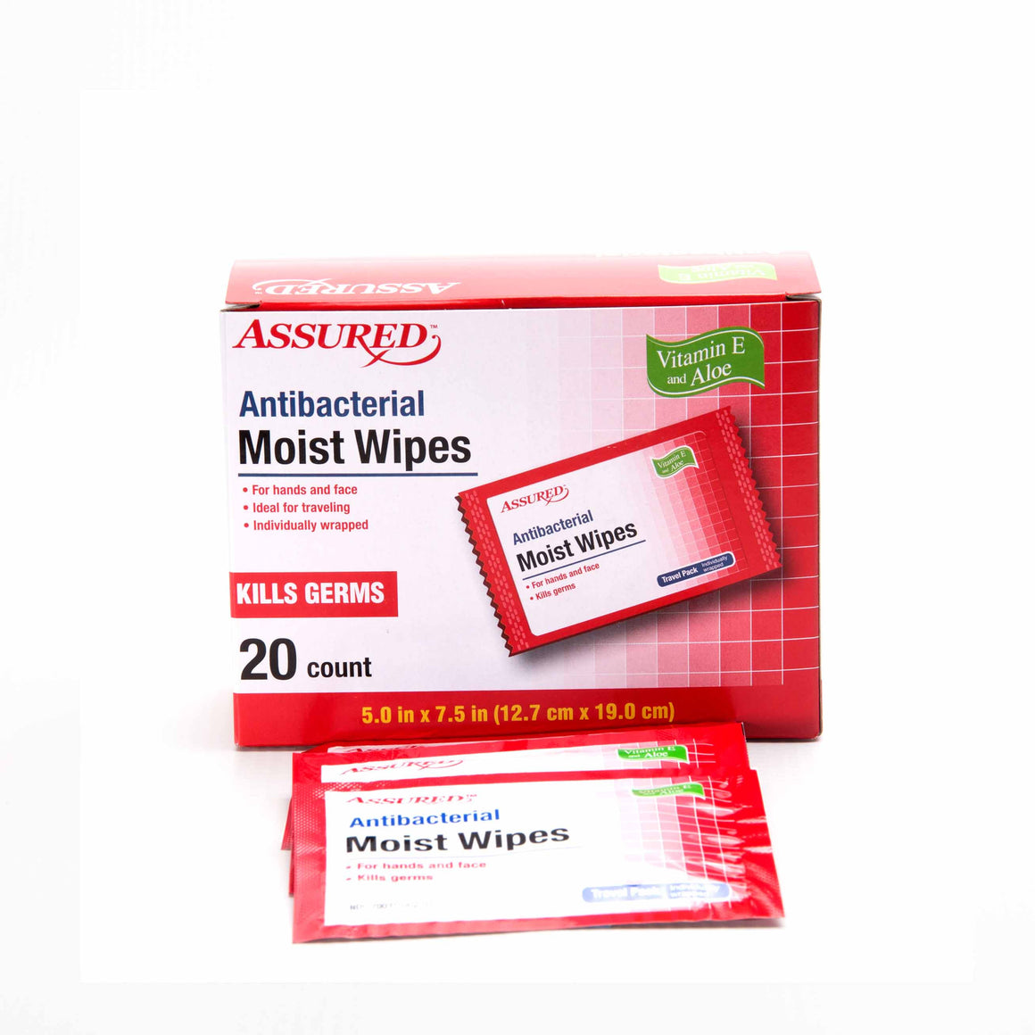 Antibacterial Moist Wipes product image - included with Dr. Don's Care Packages Get Well Soon Care Package.