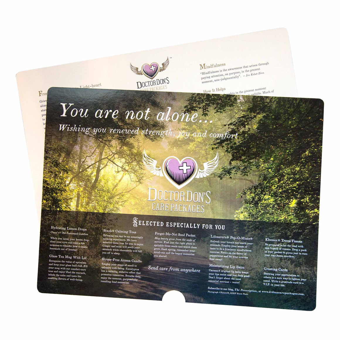 Wellness Tips product image - included with Dr. Don's Care Packages Sympathy Condolence Care Package.
