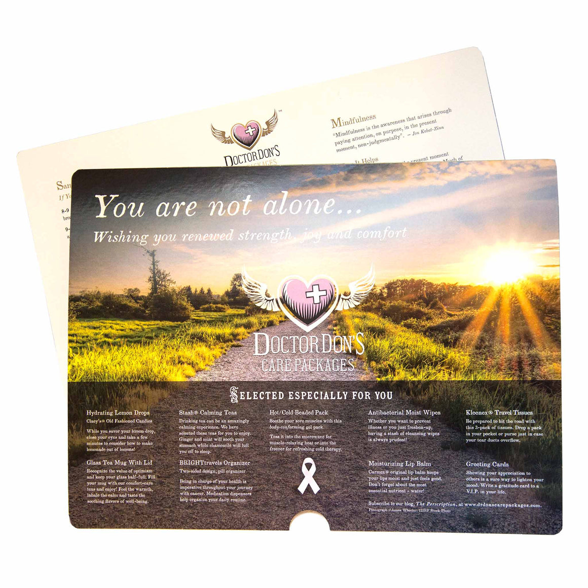 Wellness Tips product image - included with Dr. Don's Care Packages Cancer Patient Care Package.