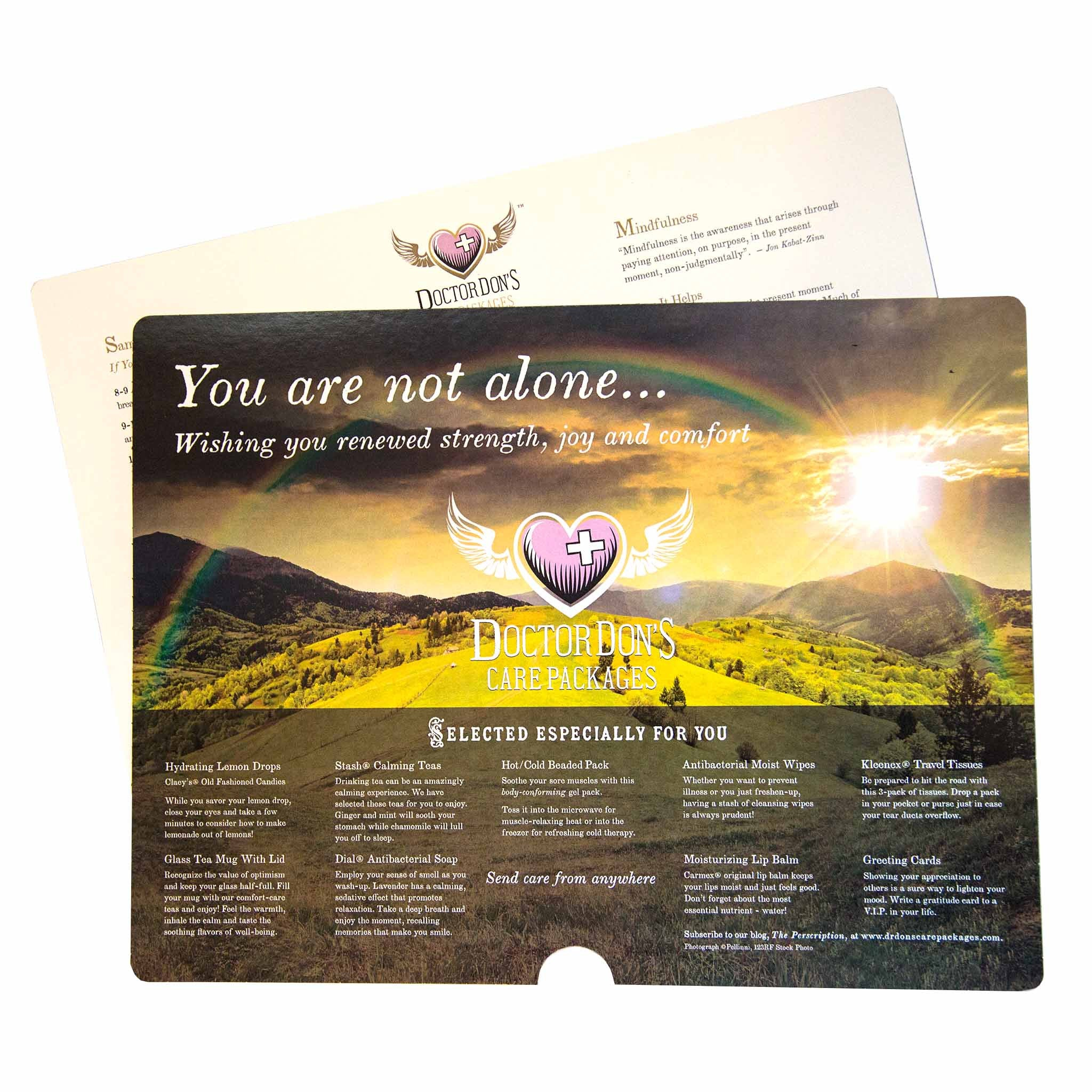 4977e12e73ecd1 Wellness Tips product image - included with Dr. Don s Care Packages Get  Well Soon Care ...