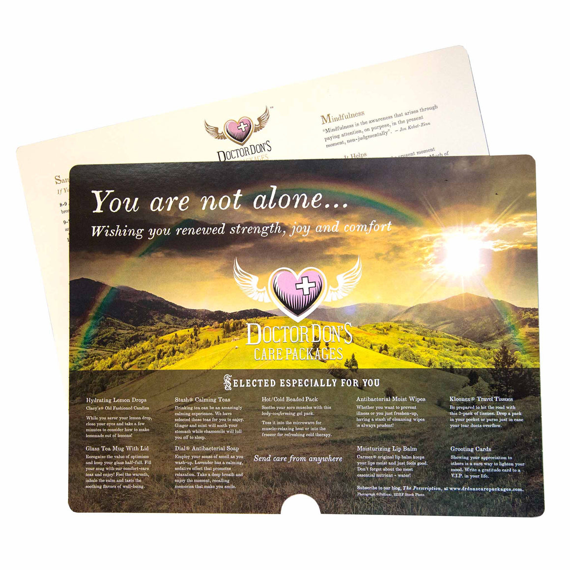 Wellness Tips product image - included with Dr. Don's Care Packages Get Well Soon Care Package.