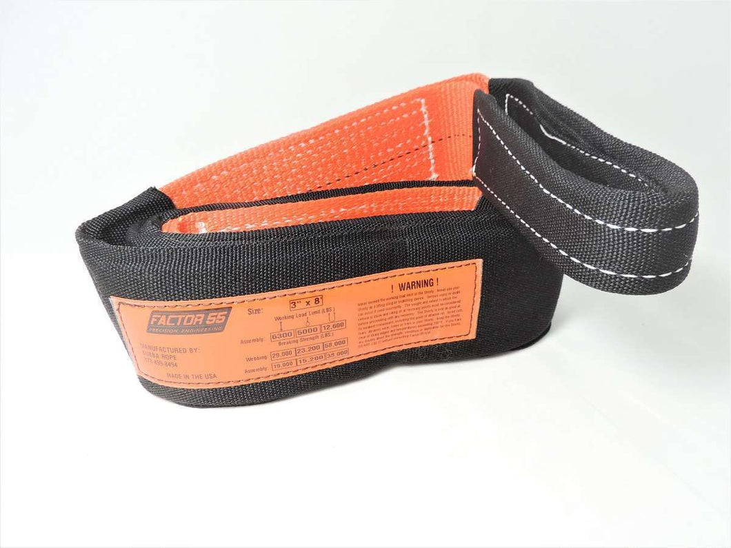 Tree Saver Strap 8 Foot 3 Inch Black/Orange Factor 55