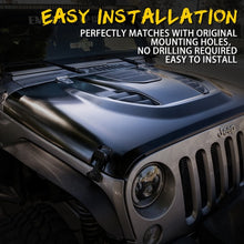 Xprite Eagle Rock Series Steel Hood for 07-18 Jeep Wrangler