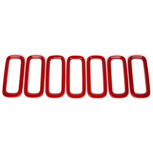 Xprite Red Grille Inserts for 2015-2017 Jeep Renegade