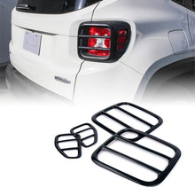 Xprite Black Taillight Guards for 2015-2017 Jeep Renegade
