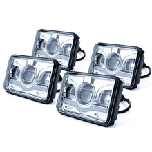 "Xprite 4 Piece 6100 Evolution 4x6"" CREE LED Headlight with High/Low Beam and Sunrise Type DRL"