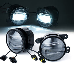 "Xprite 4"" 60W CREE LED Fog Lights with DRL - WHITE"