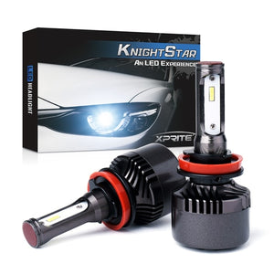 Xprite Knight Star All-IN-ONE CSP LED Headlight Conversion Kit - H8 H9 H11