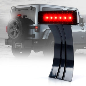 Xprite Smoke Lens 3rd Brake Light LED Replacement For 07-18 Jeep Wrangler JK