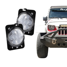 Xprite Clear Lens LED Side Marker Fender Lights for 2007 - 2018 Jeep Wrangler