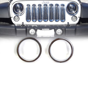 Xprite Chrome Front Bezel Cover For Turn Signal Light 07-18 Jeep Wrangler