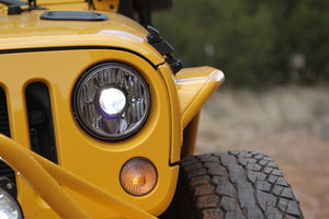 "GRAVITY® LED PRO 7"" HEADLIGHT DOT JEEP JK 07-18 PAIR PACK SYSTEM - KC #42341"