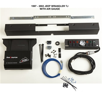 TJ Switch Panel 6 Switch W/Air Gauge 97-02 Wrangler TJ Blue sPOD