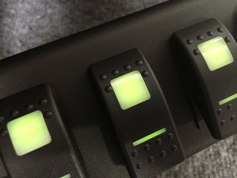 JK Switch Panel 6 Switch W/Genesis Adapter 09-17 Wrangler JK G Screen Not Included Green sPOD