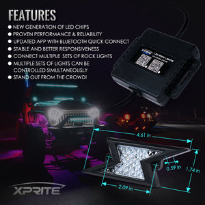 Xprite Z-Force Lightning LED RGB Bluetooth Rock Lights