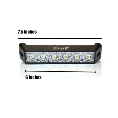 "Xprite Amber 18W 7.5"" LED 30 Degree Spot DRL Fog Light"