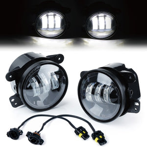 "Xprite White 4"" 60W CREE LED Fog Lights"